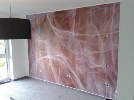 Moderne Wandgestaltung mit Velourstapeten